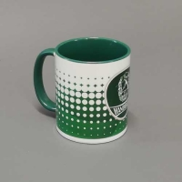 Retrotasse grün-weiß