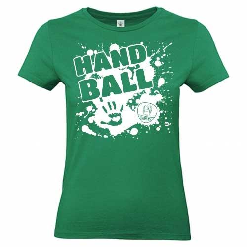 Damen T-Shirt Handballmotiv