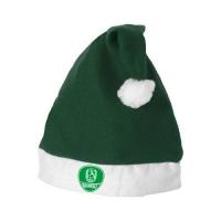 Weihnachtsmütze grün-weiß mit Logo