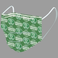 Gesichtsmaske grün-weiß
