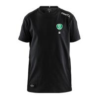 CRAFT Mix Shirt für Kinder in schwarz