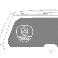 Heckscheibenaufkleber Logo 20 cm